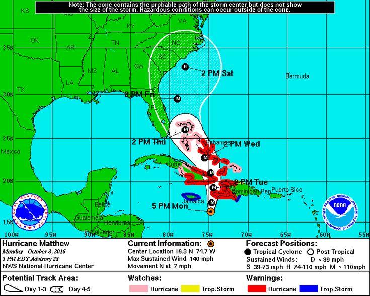 'Life-threatening' Hurricane Matthew bearing down on Haiti; likelihood of U.S. effects rising - The Washington Post