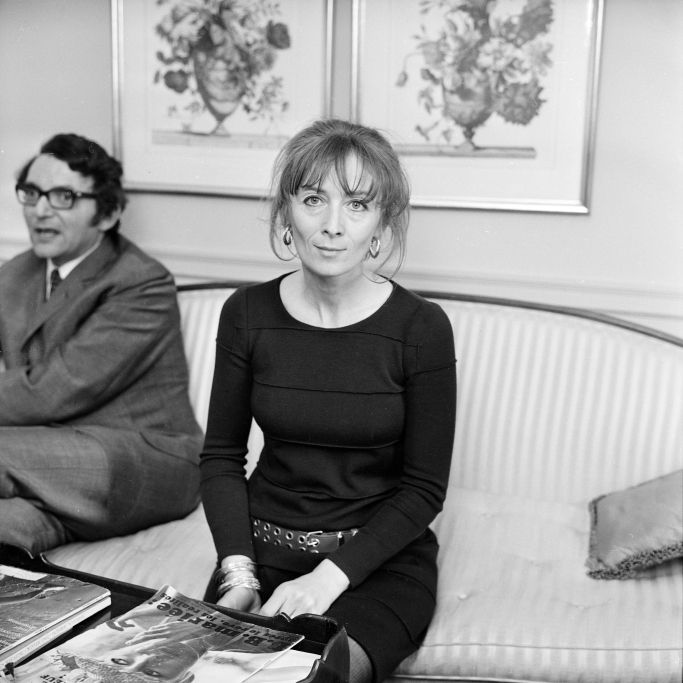 Portrait of Sonia Rykiel and with her husband in 1967.