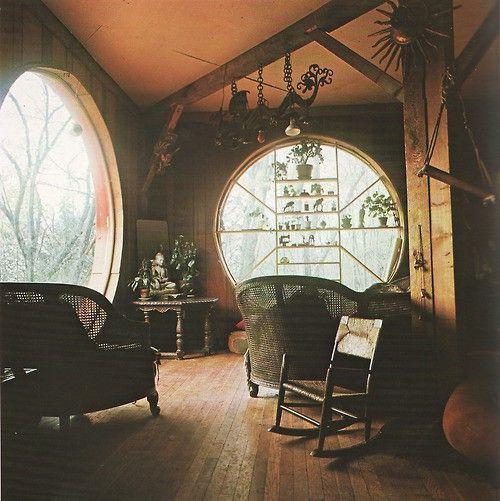round windows.