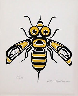 "Tlingit Bee-One of the strongest attributes to the bee is ""loyalty."" The bee is very loyal to the hive. The bee shows honor, duty, and consistency in performing his task. Once you understand how loyal they are, you will have a new respect for their species.                                                                                                                                                      More"