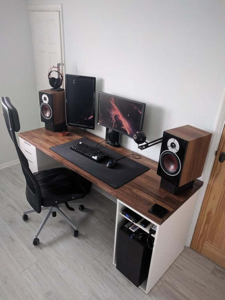 Ikea Karlby Countertop And Alex Drawers Computer Desk Design Diy Computer Desk Computer Desk Setup