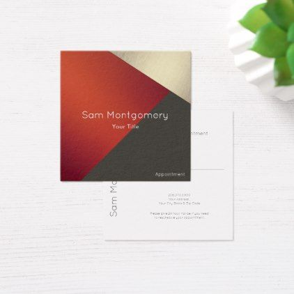 The 25 best square business cards ideas on pinterest business gold orange minimal geometric appointment square business card reheart Choice Image