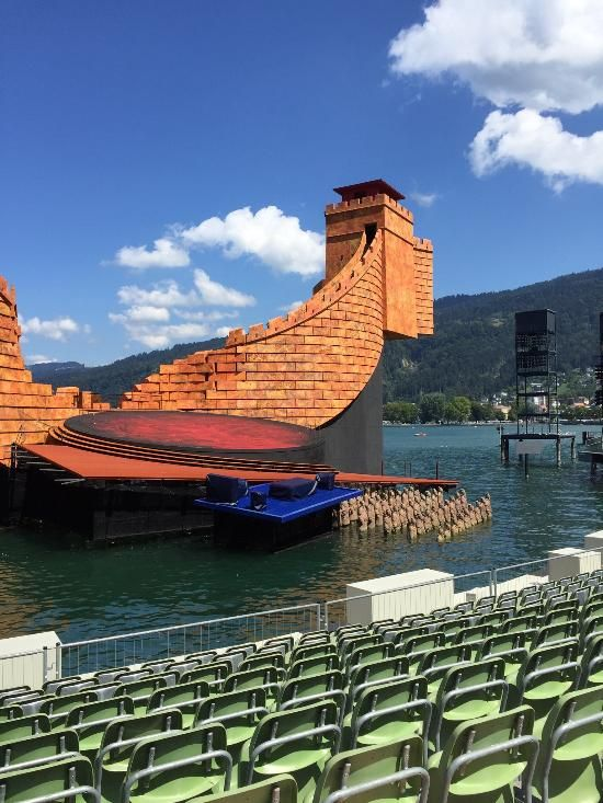 **Bregenz Festival (opera stage built on a lake, occurs every summer, a must see event!) - Bregenz, Austria
