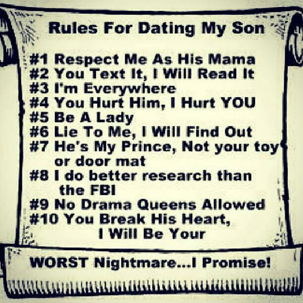10 Rules for Dating My Son A Realist s Approach