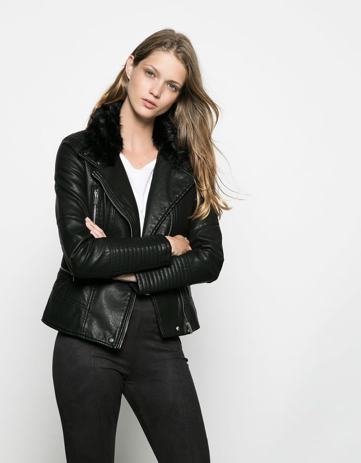 Bershka quilted detail imitation leather jacket. Discover this and many more items in Bershka with new products every week
