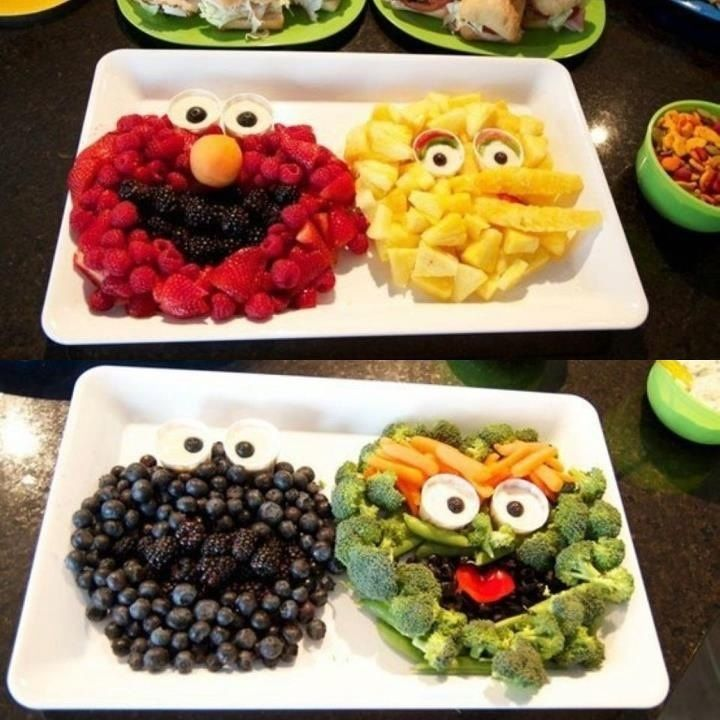 Fruit And Veggie Tray For Kids
