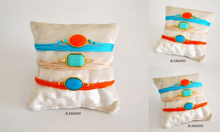 Coloured bracelets!!! Cords and beads!!! Spring time!!! Il Tacco!!!