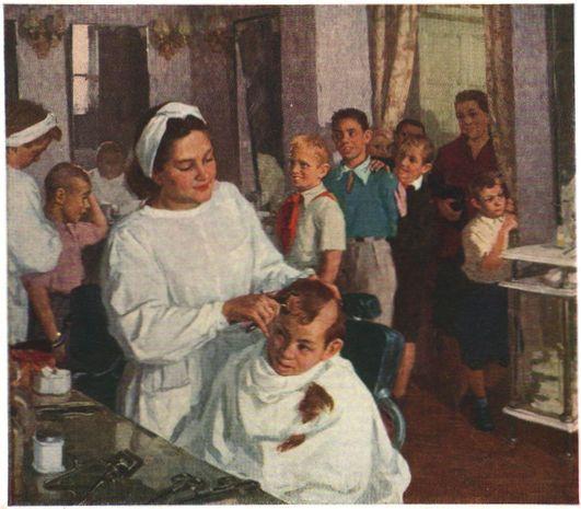 """Tomorrow at school / Завтра в школу"". М.А. Суздальцев / MA Suzdaltsev (род. 1917),"