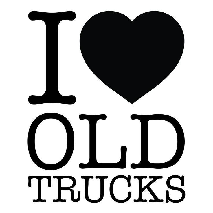 "5-inch ""I Love Old Trucks"" Sticker"