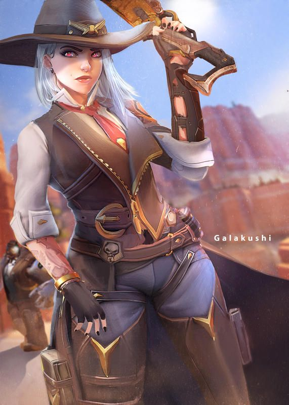 Ashe and Bob by Galakushi Overwatch wallpapers