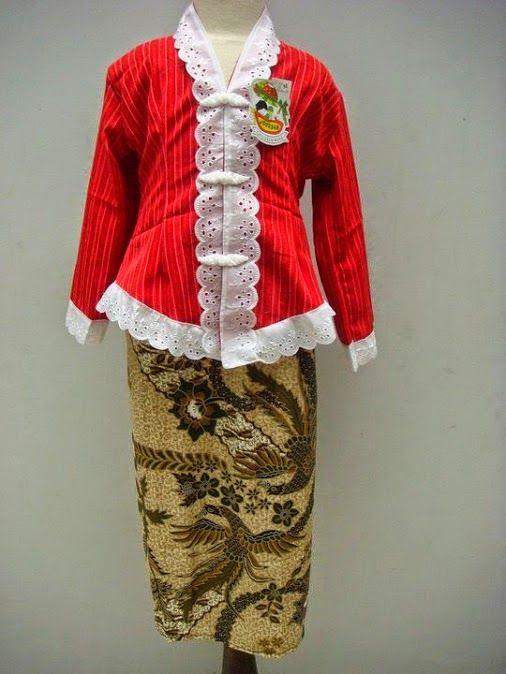 Baju Kebaya Kartini Merah Putih