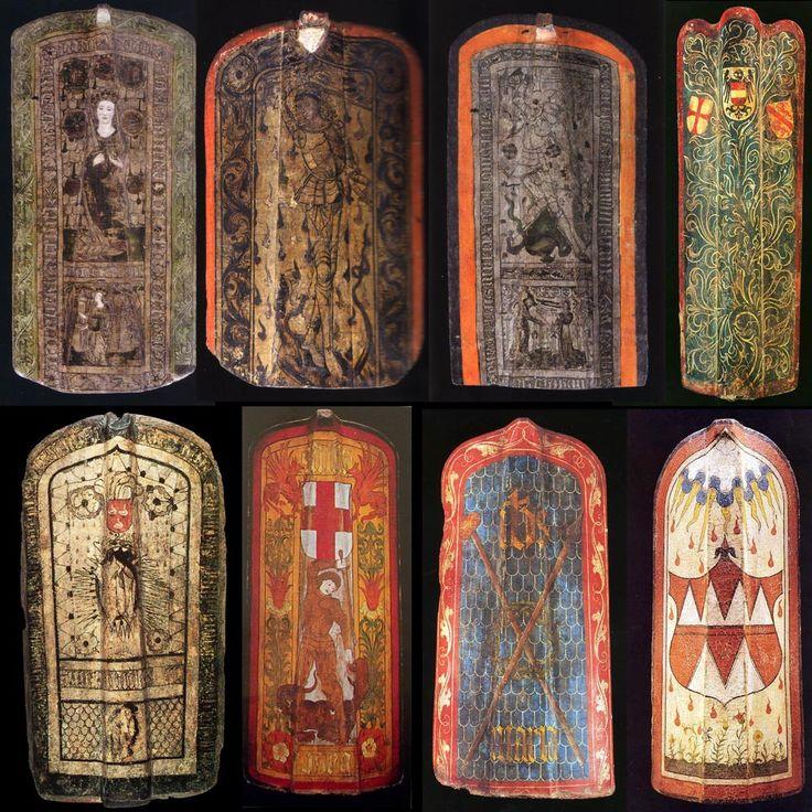 Decorated Pavise Shields Designed To Protect Crossbowmen