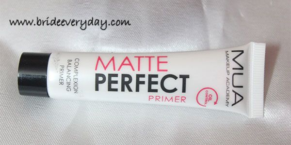 Make up Academy (MUA) Matte Perfect Complexion Balancing Primer Review http://www.brideeveryday.com/make-up-academy-mua-matte-perfect-complexion-balancing-primer-review