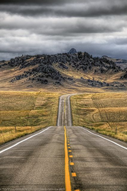 Montana--did my public health internship in Helena (a gazillion years ago) and remember driving home toward Michigan by myself along roads like these. Amazing feeling!