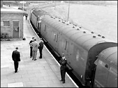The Great Train Robbery is the name given to a 2.6 million train robbery  committed on Thursday 8 August 1963 at Bridego Railway Bridge, Ledburn near Mentmore in Buckinghamshire, England. The bulk of the stolen money was not recovered. Three robbers were never found, two convicted robbers escaped. One convicted most likely never was involved, and died in prison. Though there were no firearms involved, the standard judgment was 30 years.