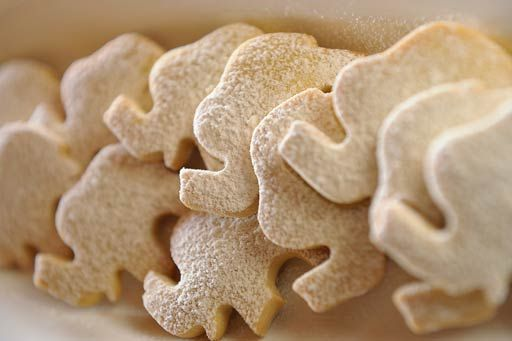 Elephant-shaped biscuits at Camp Jabulani, a magnificent five-star safari lodge in Limpopo, South Africa