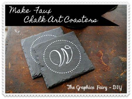 How to make Monogrammed Chalk Art Coasters