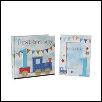 Σετ κορνίζα και άλμπουμ – Τα πρώτα γενέθλια (για αγόρι), ouaoua.gr