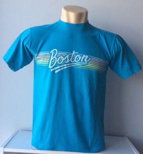 Vtg-80s-T-Shirt-BOSTON-Band-Tour-Tee-M-Thin-Punk-Grunge-Rock-Tee-USA-70s