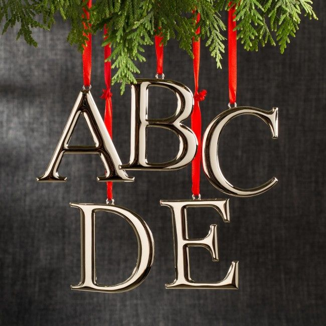 Do you have something nice to say this Christmas? Why not spell it out with the Metal Monogrammed Ornaments.