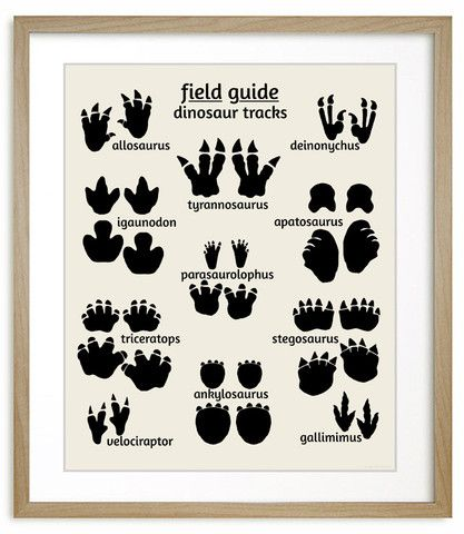 Dinosaur Nursery Art, Field Guide to Dinosaur Tracks #dinosaur #nursery