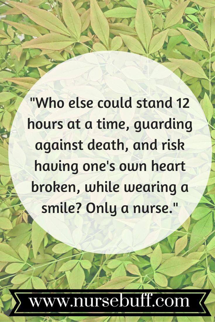 ...only a nurse...