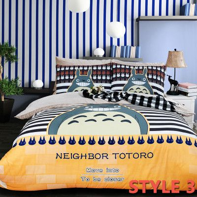 Fleece Oil Painting Totoro Bedding Sets