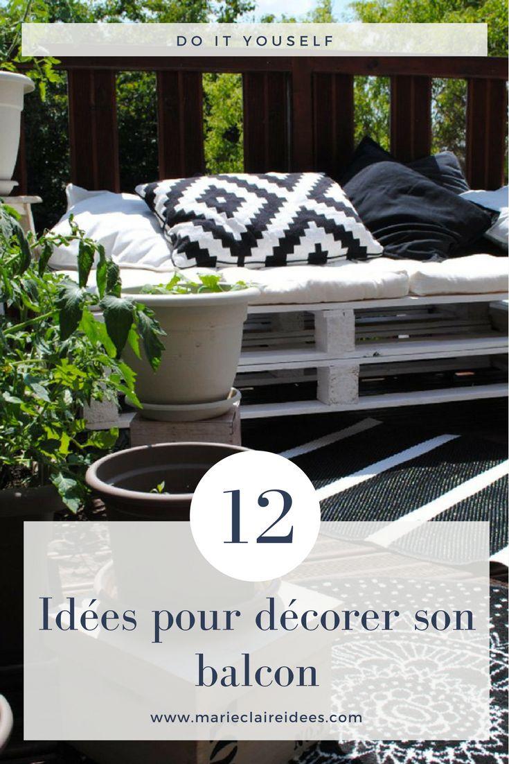12 idées pour décorer son balcon / DIY balcon / fabriquer un banc avec une palette