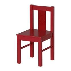KRITTER Children's chair - red - IKEA Could be good for a kids cafe area (outside play area)