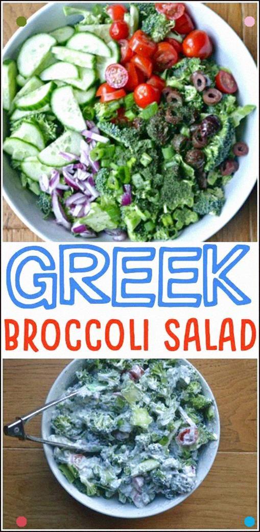 Griechischer Brokkolisalat Machen Sie das Beste aus allem