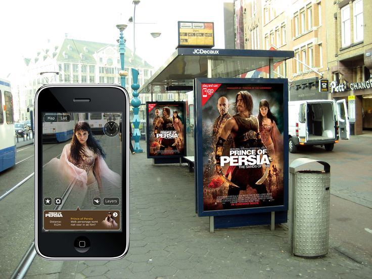 Certified Layar partner #TABworldmedia created an augmented reality outdoor campaign for Prince of Persia using @Layar in 2010. The poster was displayed widely in the Netherlands and on the locations of 100 cinemas across the country.