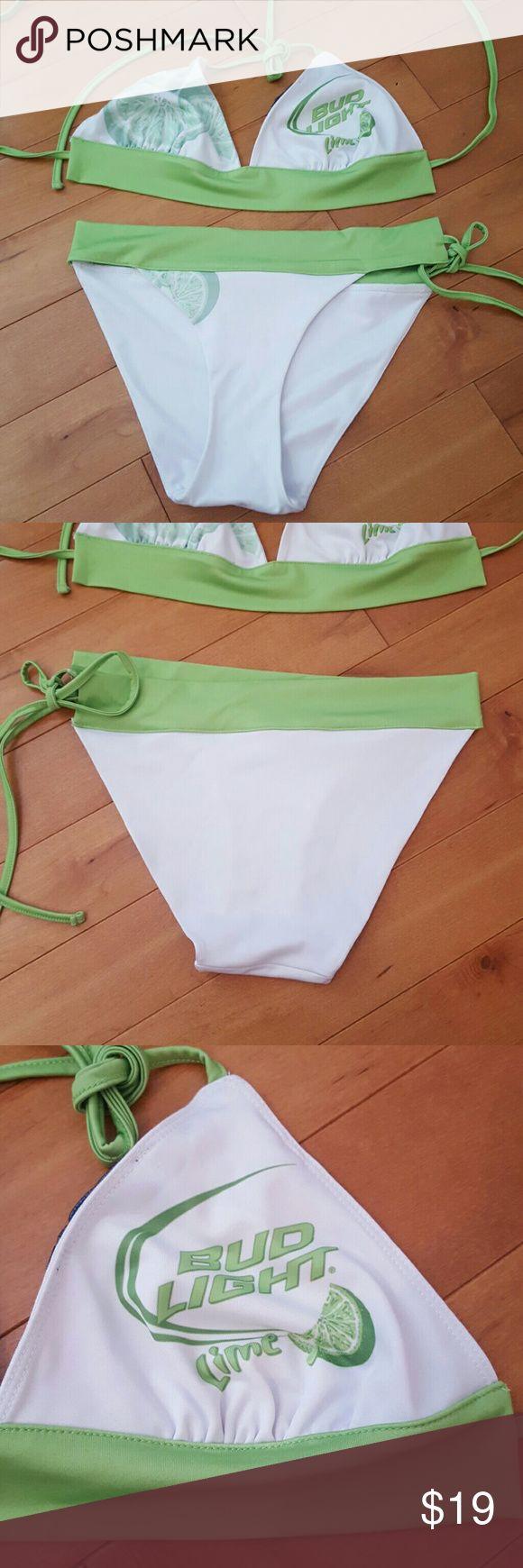 Bud light Lime bikini Never worn. Bud Light Lime bikini Swim Bikinis