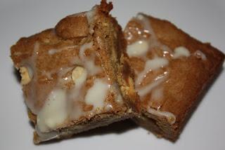 Biscoff Spread White Chocolate Chip Blondies