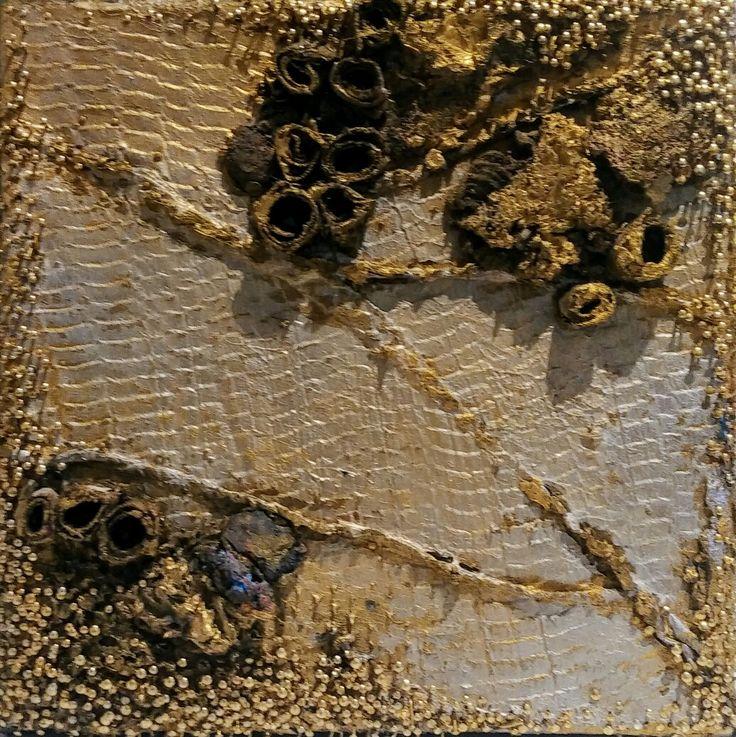 Sculptural Painting by  David Schaefer David Joyce Studio 2015 Mixed media