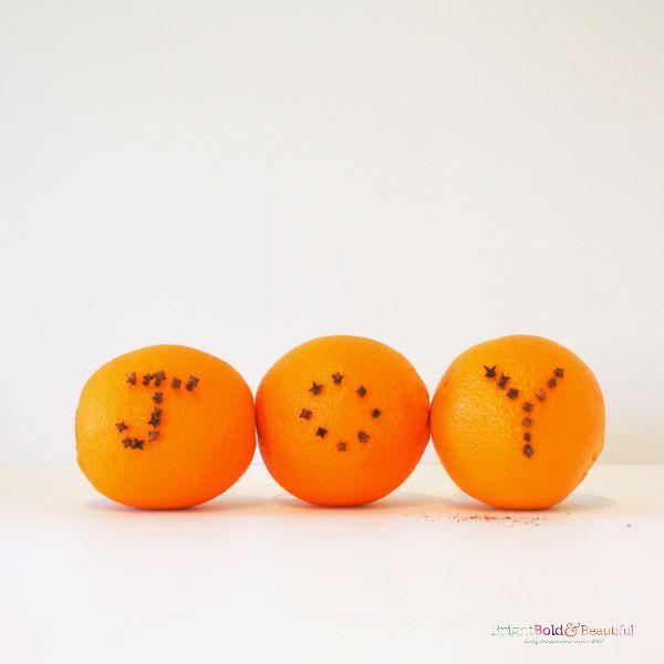 JOY   orange and clove DIY pomanders