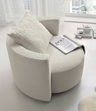 Karisma armchair. It hugs you and swivels. By Ditre Italia: http://www.ditreitalia.com/1117/poltroncina_Karisma.html