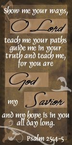 Psalm 25:4-5 Free Scripture Tags by Edie at Rich Gifts Graphics & Blog Design