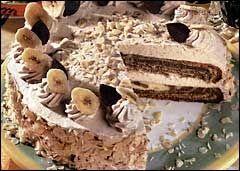 Banánový dort se želatinou