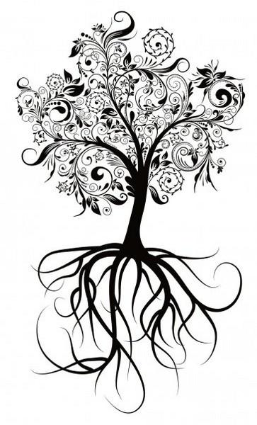 family tree idea...top of a sleeve maybe