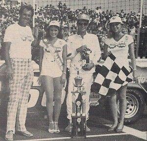 Vintage Delaware Speedway McKerlie Millen 50 winning trophy Ron Ling 1983