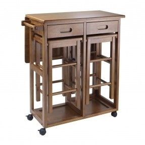 Furniture, Portable Kitchen Island With Drop Leaf Dining Table Double ...