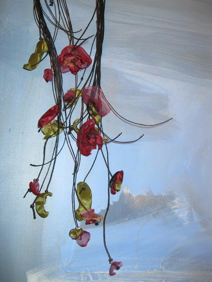 Organza @ satin neck piece, 'Vogli jewelry'