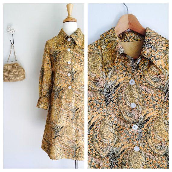 Gold and black vintage Japanese button through modish by MrsJoyful, $59.00