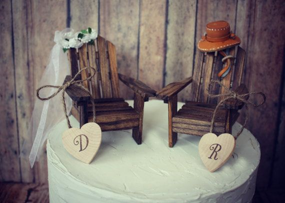 Rustic Wedding Cake Toppers | Adirondack Chair Wedding Cake Toppers : We thought these were SO ...