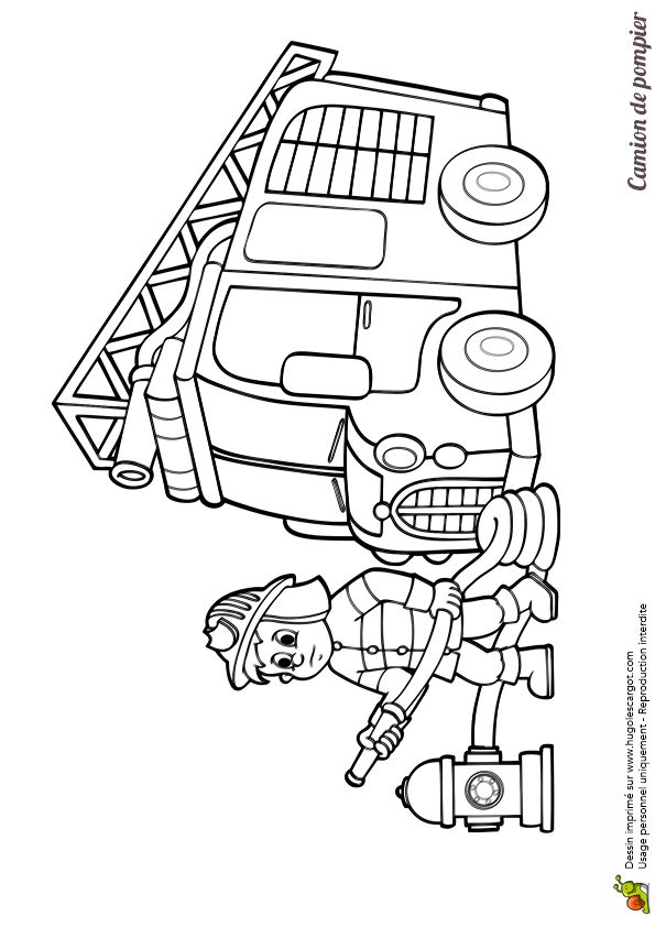 86 best images about coloriages de camions on pinterest cars cartoon and lego - Camion pompier coloriage ...