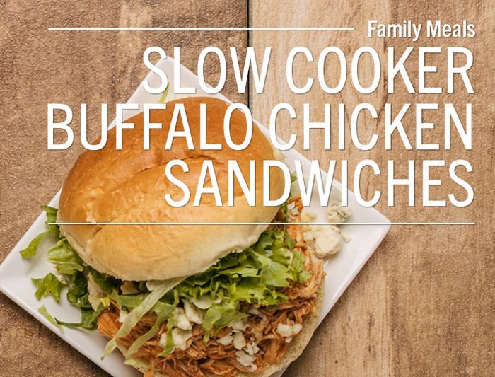 Slow Cooker Buffalo Chicken SandwichesWant to add a little spice to your weeknight dinner? Try these easy Buffalo chicken sandwiches! Place 2 pounds of boneless, skinless chicken breasts in your slow...