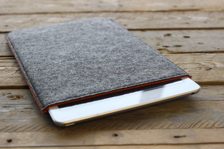 iPad Air Case / iPad Air Sleeve / iPad Air Cover - Mottled Dark Grey Outer and Choice of Inner Colours - 100% Wool Felt by PathfinderGoods on Etsy https://www.etsy.com/listing/168956889/ipad-air-case-ipad-air-sleeve-ipad-air