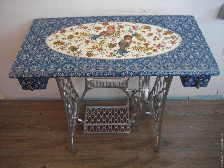 """Купить Оригинальный стол """"Серебряные сны"""" - серебряный, стол, столик, кухонный стол, письменный стол"""