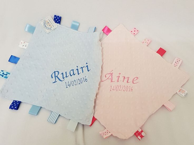 23 best personalised baby gifts images on pinterest babies personalised taggy blanket comforter taggie blanket pink blue boy girl gift negle Gallery