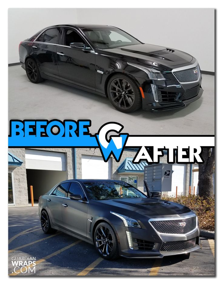 Cadillac CTSV Black Brushed Steel Car Vinyl Wrap Guardian - Pouring hot water on this car reveals awesome hulk vinyl